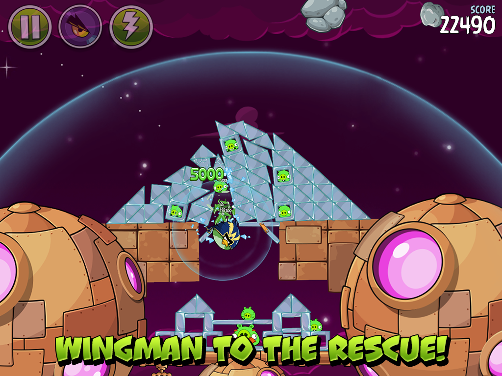 Angry Birds Space: captura de pantalla