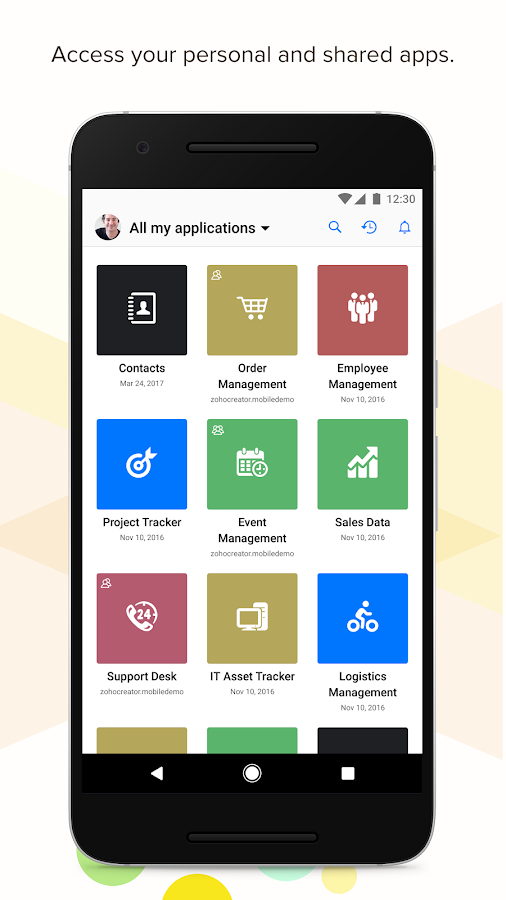 Zoho Creator- screenshot