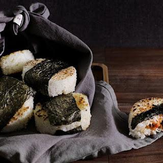 Spicy Smoked Salmon Onigiri / Rice Balls.