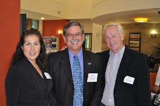 Photo: 3/4's of our wonderful San Diego regional alumni team: Bernadette Duran Marjonovic '05, Mark Evilsizer '94, Rob Sweete '87 (not pictured, Francisco Valle '08)