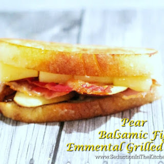 Pear Balsamic Fig Emmental Grilled Cheese Recipe