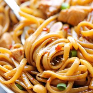 CPK's Kung Pao Spaghetti.