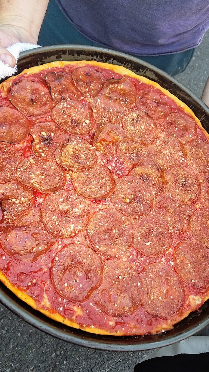 Chicagoland Chicago style deep dish pizza