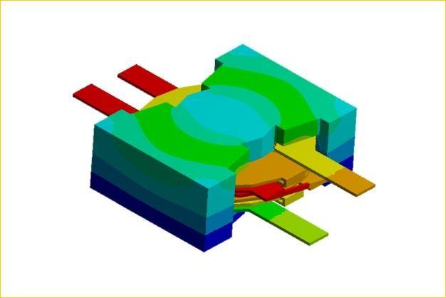 ANSYS - Тепловые поля при потере мощности в трансформаторе тока