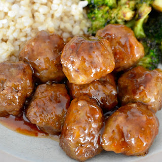 Sweet and Sour Meatballs (gluten-free)!