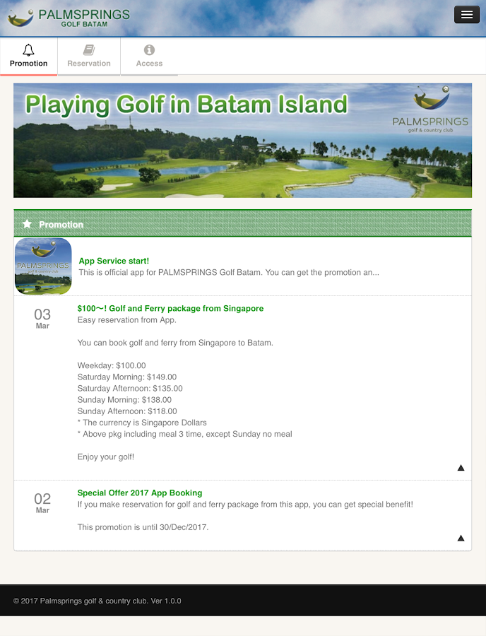 PALMSPRINGS BATAM GOLF- screenshot