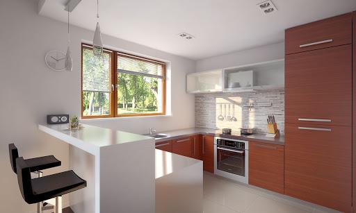 Projekt domu Bono (TNP 519)  113 95m² -> Drewniana Kuchnia Z Akcesoriami Howa