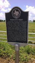 Photo: Marker Moseley's Ferry, at Brazos River, near Bryan
