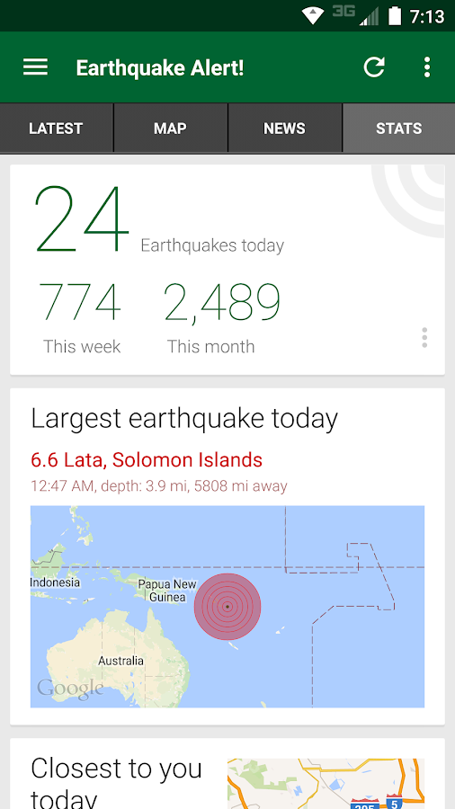 Earthquake Alert!- screenshot