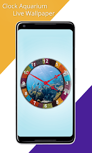 Clock Aquarium Live Wallpaper - náhled