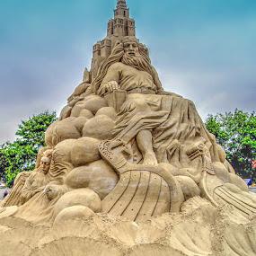 Sand art in Denmark by Keld Helbig Hansen - Artistic Objects Other Objects