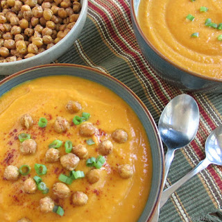 Creamy Gingered Sweet Potato Carrot Soup