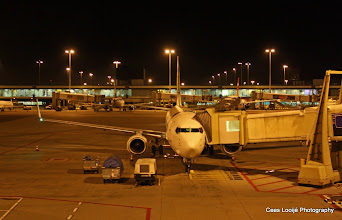 Photo: Amsterdam Airport. Ons vliegtuig | Our airplane.  www.loki-travels.eu