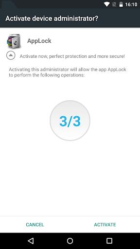 Advanced Protection ☞ AppLock 1.7 screenshots 5