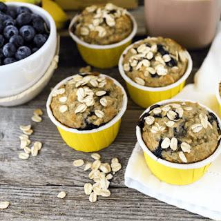 Blueberry Banana Oat Muffins.