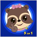 Candy Raccoon: Balloon Games icon