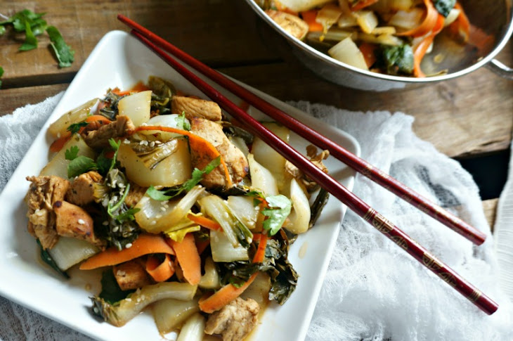 Stir-Fried Chicken and Bok Choy Recipe | Yummly