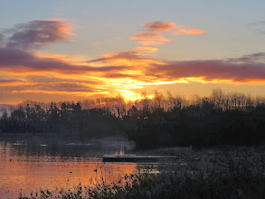 Photo: 19 Jan 14 Priorslee Lake Sunrise as the overnight rain clears away. (Ed Wilson)