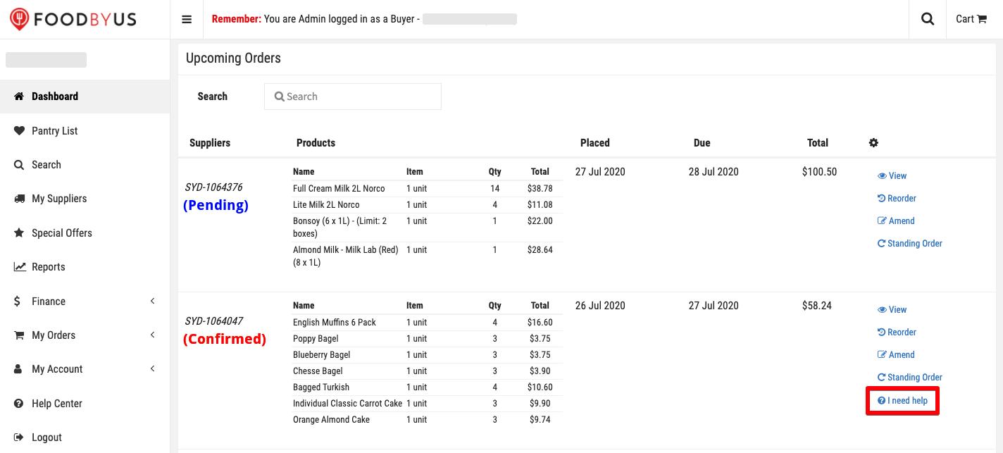 FoodByUs_dashboard_I_need_help_orders