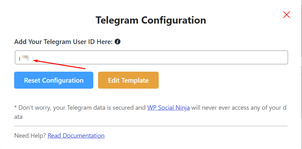 live chat telegram configuration