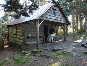 Photo: Roan High Knob Shelter  (highest shelter on AT - 6285 ft.)