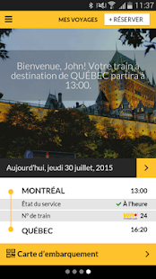 VIA Rail – Vignette de la capture d'écran