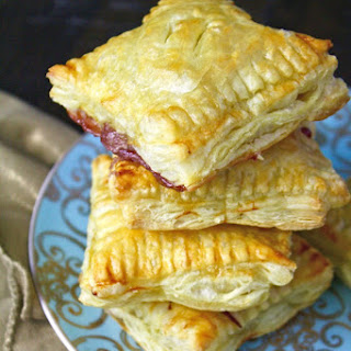 Easy Brie and Cherry Puff Pastry Squares.