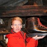 Large shoe at Zermatt Museum in Zermatt, Valais, Switzerland