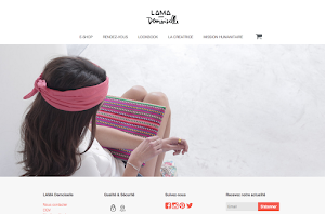 site internet créé par lama demoiselle