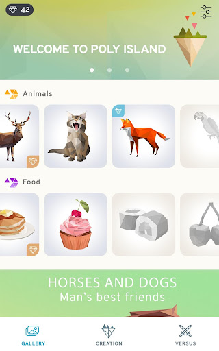 Poly Island: create, color, relax apkpoly screenshots 18