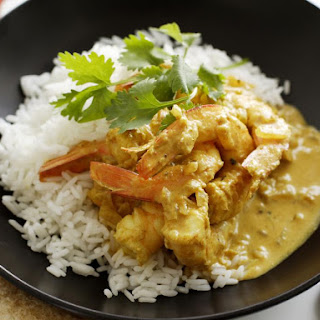 Easy Coconut Milk Curry with Shrimp.