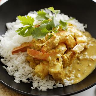 Easy Coconut Milk Curry with Shrimp.