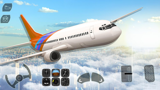 Code Triche Take off Airplane Pilot Race Flight Simulator mod apk screenshots 2