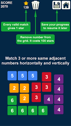 Télécharger Gratuit Connect n Clear Numbers: Match 3 Numbers Game APK MOD (Astuce) screenshots 3