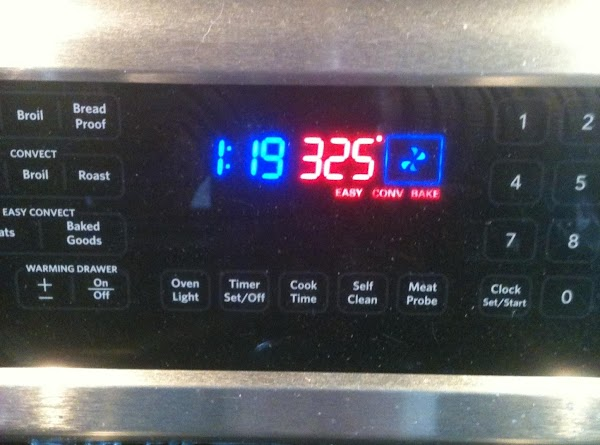 Preheat Oven to 350 or 325 convection.