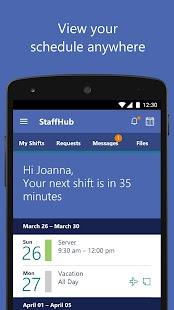 Microsoft StaffHub - náhled