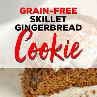 Skillet Gingerbread Cookie.