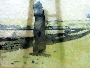 Photo: 'Stones 1', 2010 - fused stained hammered glass, 25x30cms - STUDIO SALE £70