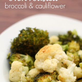 Oven Roasted Broccoli and Cauliflower.