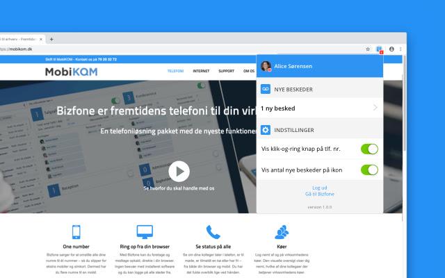 Bizfone Chrome udvidelse