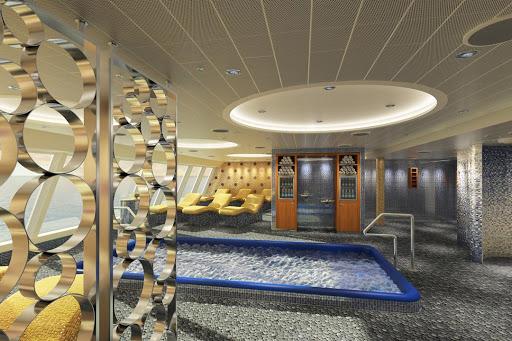 carnival-horizon-cloud-9-spa-thermal-suite.jpg - Relax in the Thermal Suite of the Cloud 9 Spa aboard Carnival Horizon.