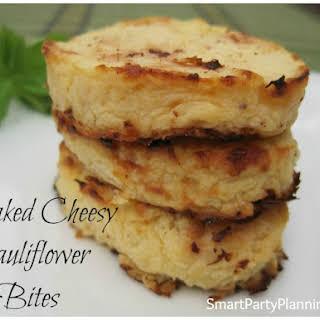 Baked Cheesy Cauliflower Bites.