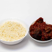 White Rice and Assorted Meat