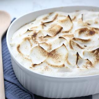 Healthy Sweet Potato Casserole with Maple Meringue.