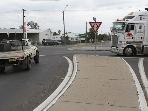 The community is invited to have a say on proposed changes to the highway intersection at Barwan Street, above, and the Tibbereena Streets-Killarney Street corner.