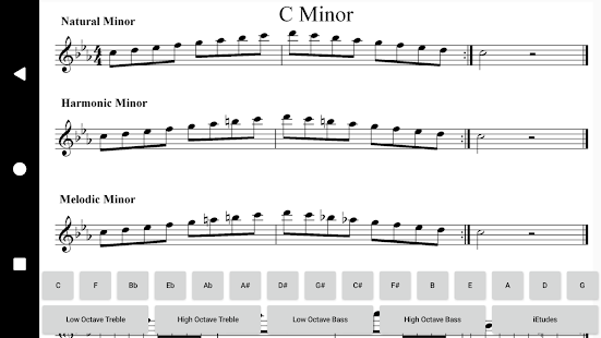 Minor Scales Treble and Bass- screenshot thumbnail