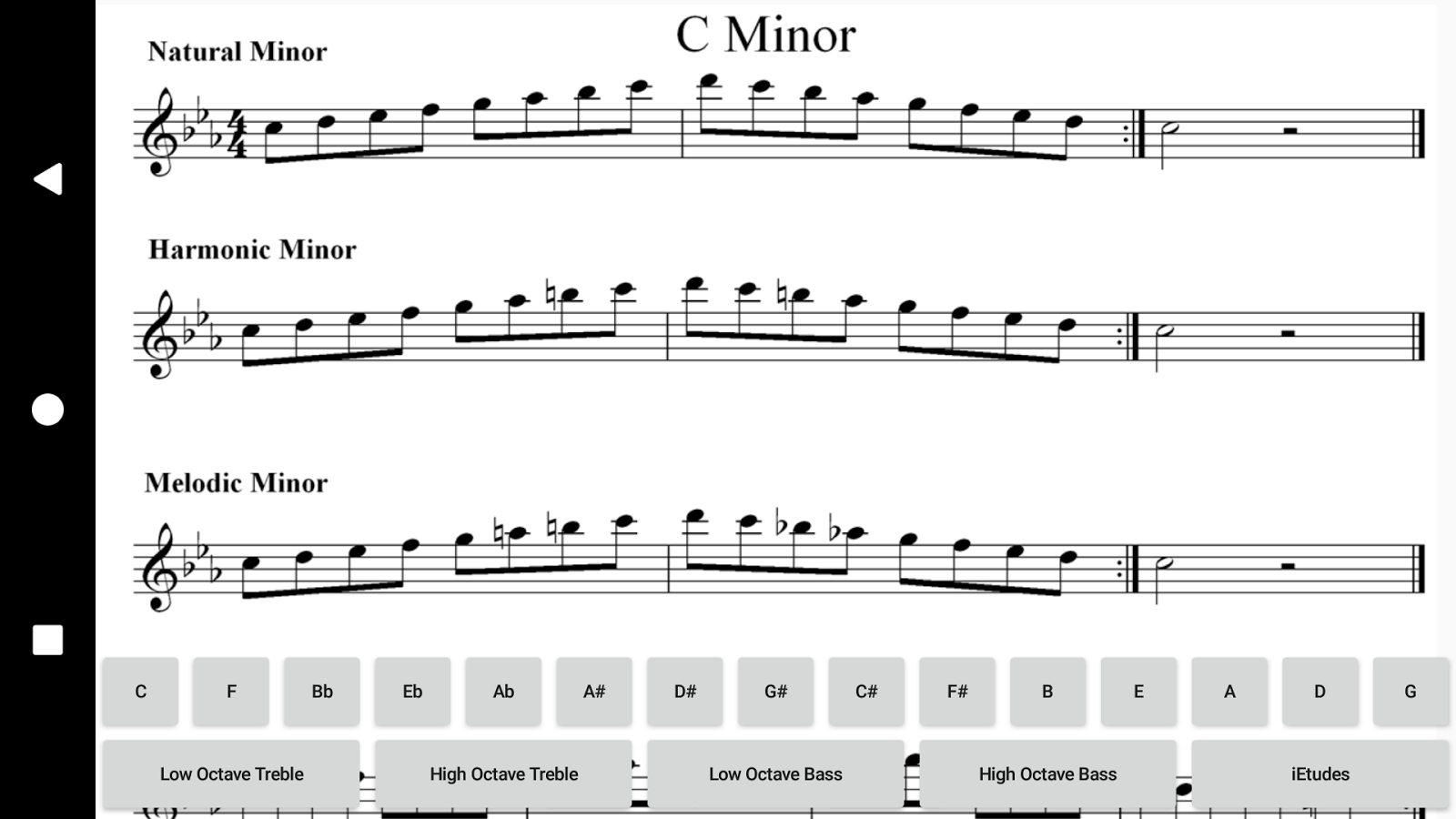 Minor Scales Treble and Bass- screenshot