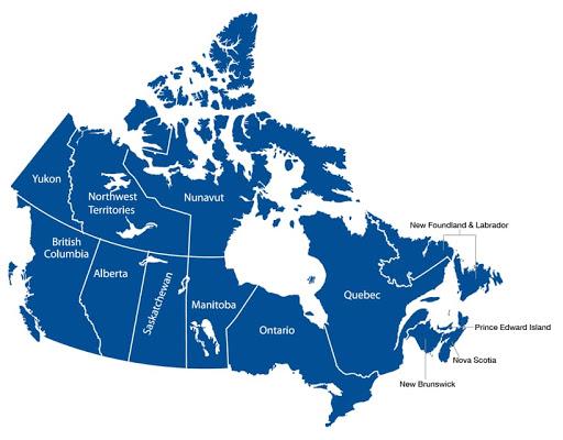 Χάρτης Καναδά