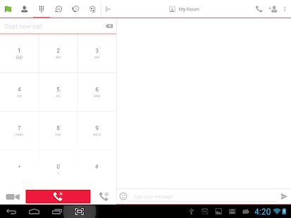 BizVoice UC for Tablet - náhled