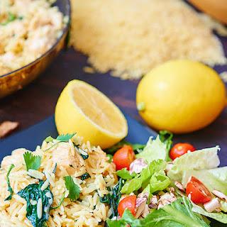 Lemon Garlic Chicken and Orzo Pasta